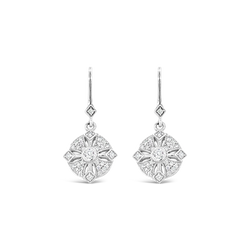 Diamond Drop Shepherd Hook Earrings