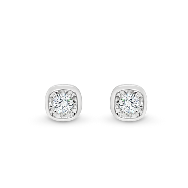 Cushion Shaped Diamond Stud Earrings