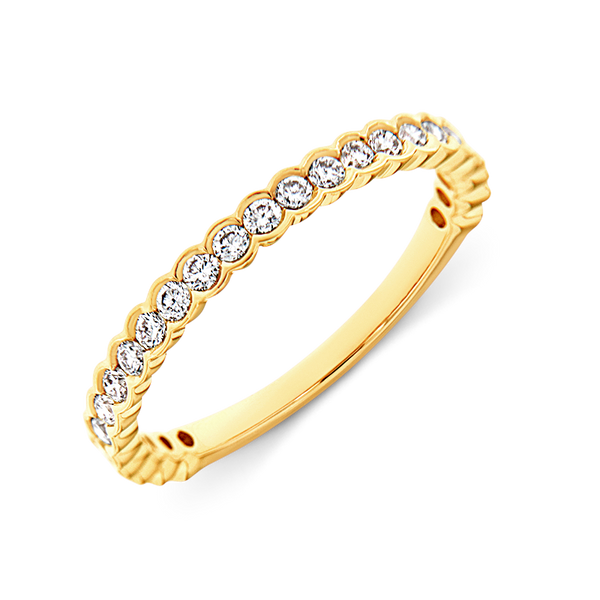 Bezel Set Wedding Ring