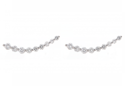 Diamond Curved Ear Cuff