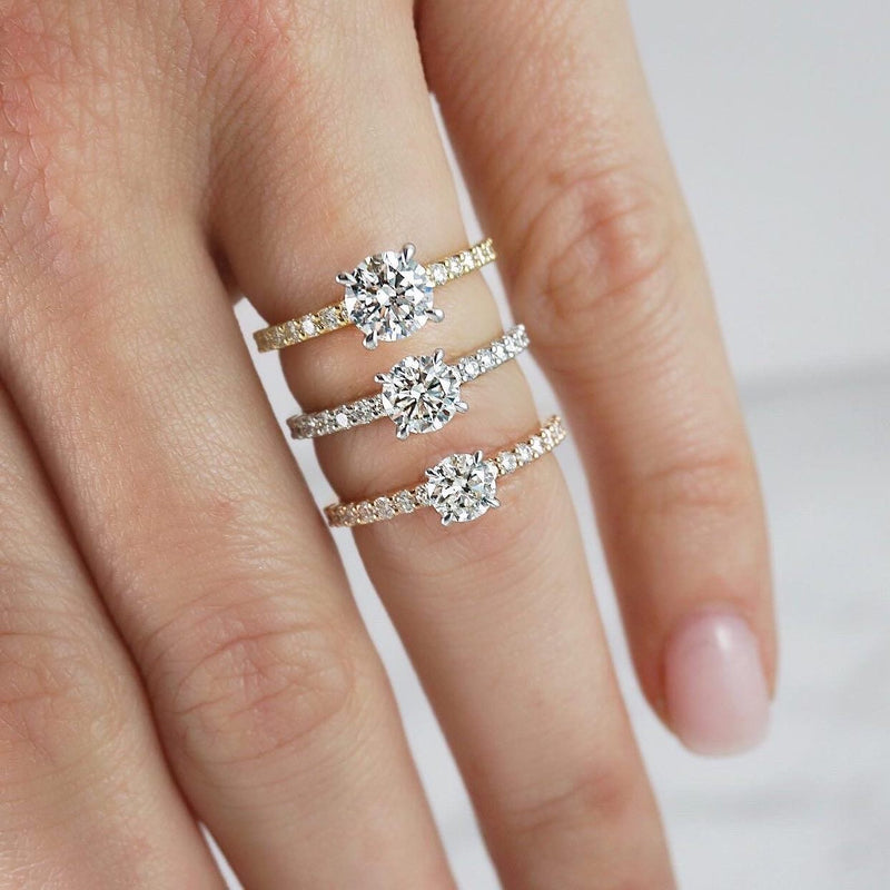 'Angelina' Collection In White Gold