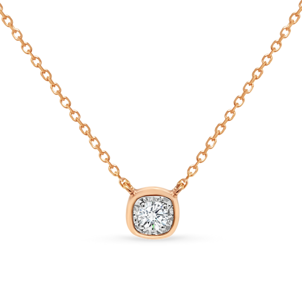 Cushion Shaped Diamond Necklace