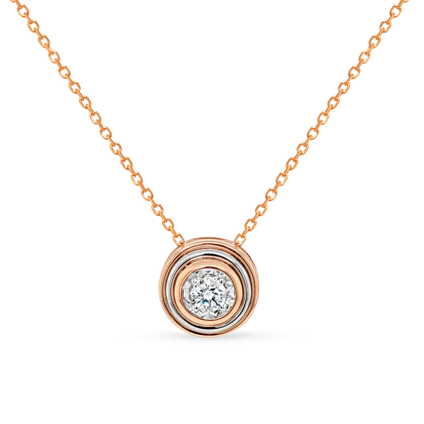 Double Bezel Diamond Pendant