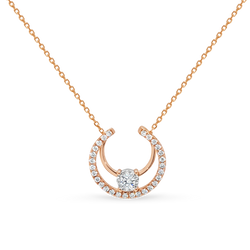 Rose Gold Diamond Layered Necklace