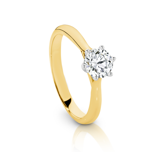 Solitaire Collection Round Diamond Engagement Ring