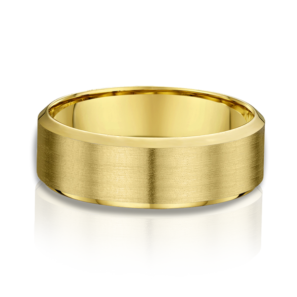 Yellow Gold Mens Wedding Band