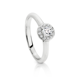 Australian Argyle Diamond Halo Ring