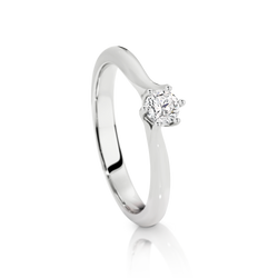 Australian Argyle Solitaire Diamond Ring