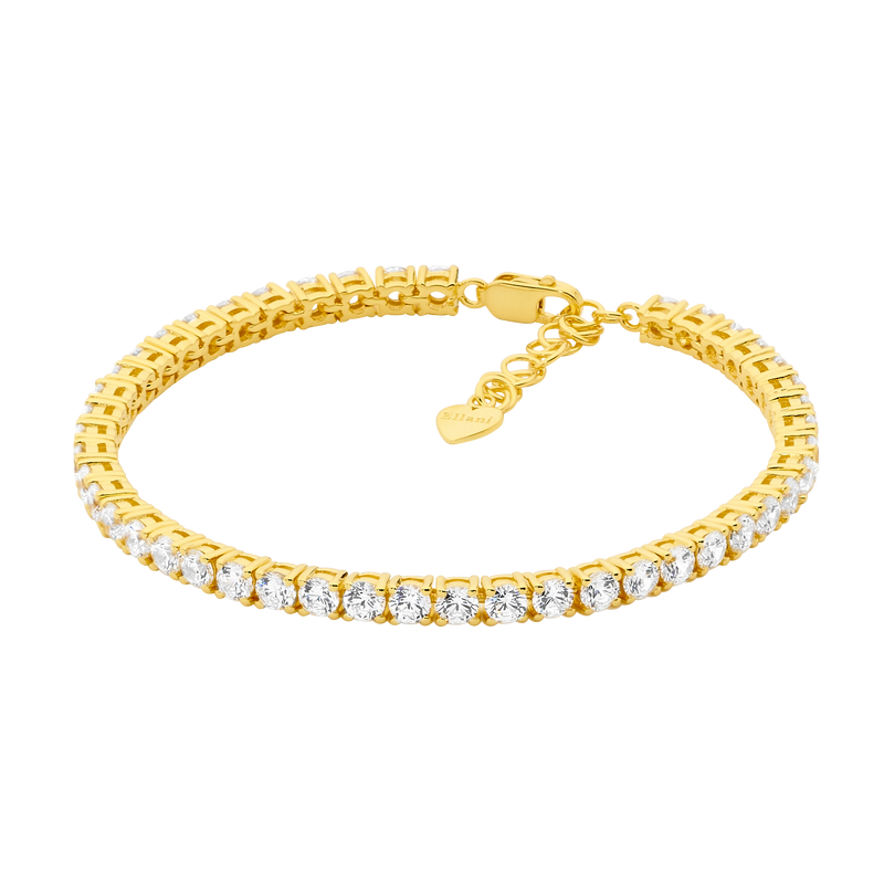 Tennis Bracelet set with Cubic Zirconia