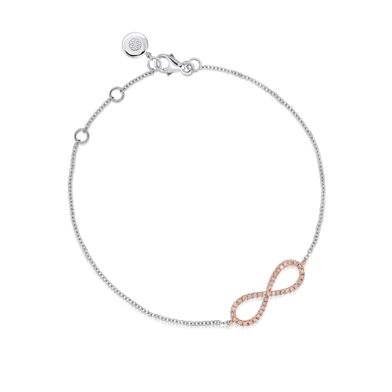 Blush 'Infinite' Pink Diamond Infinity Bracelet