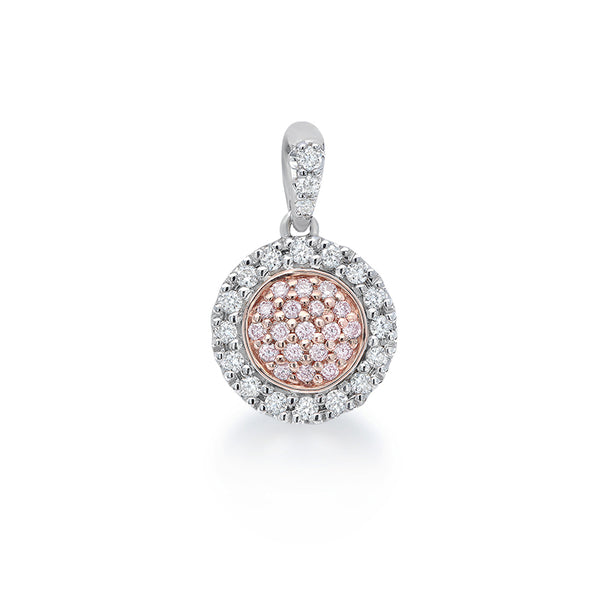 Blush 'Katherine' Pink & White Diamond Pendant