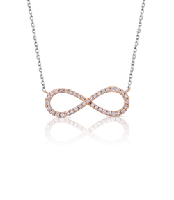 Pink Diamond Infinity Necklace