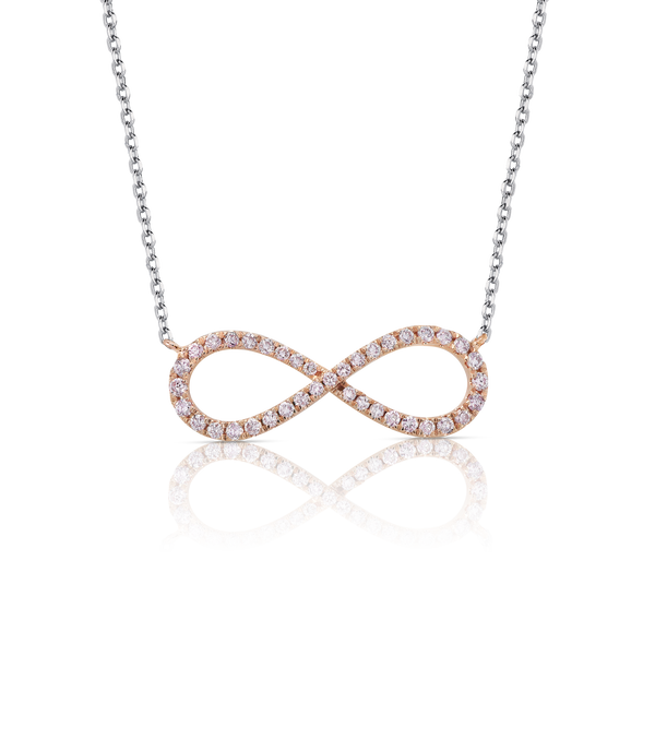 'Infinite' Pink Diamond Infinity Necklace