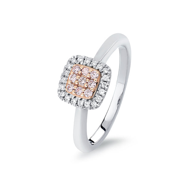Blush 'Hope' Pink & White Diamond Ring