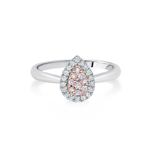 Blush 'Talullah' Pink & White Diamond Ring