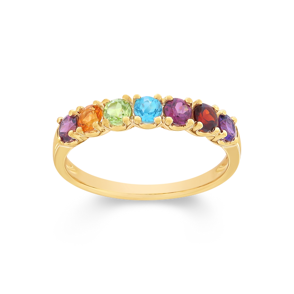 Multi-Coloured Stone Dress Ring