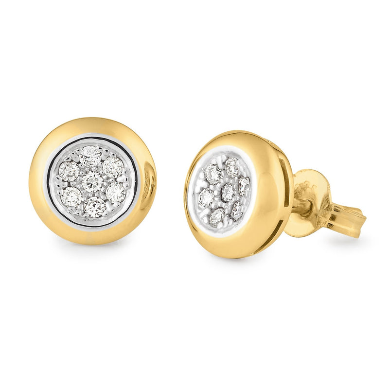 Diamond Bezel Stud Earrings