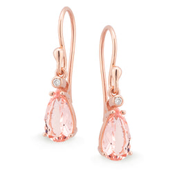 Morganite & Diamond Drop Earrings
