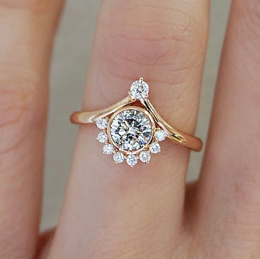 Salt & Pepper Diamond Rose Gold Ring