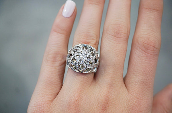 Statement Diamond Cocktail Ring