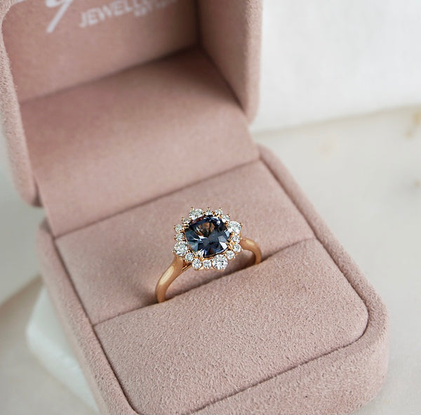 'Elsa' Rose Gold, Spinel & Diamond Ring