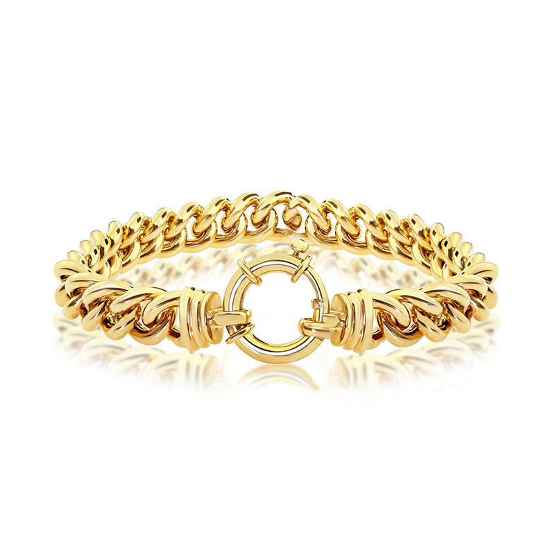 Yellow Gold Ladies Curb Bracelet
