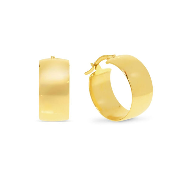 Wide Round Hoop Earrings