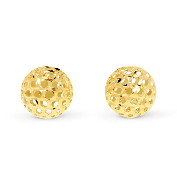 Diamond Cut Ball Studs