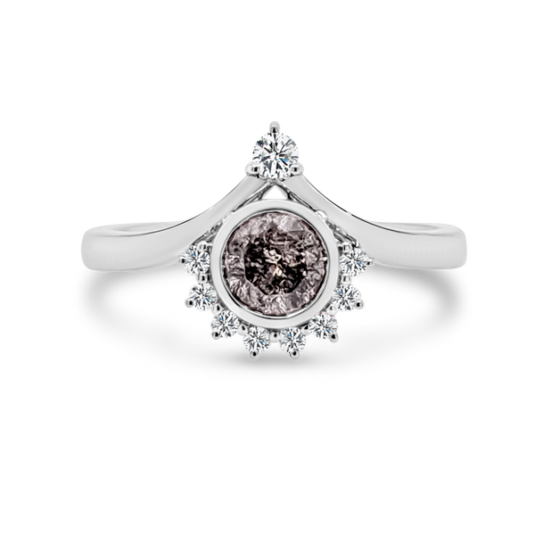 Salt & Pepper Diamond Ring