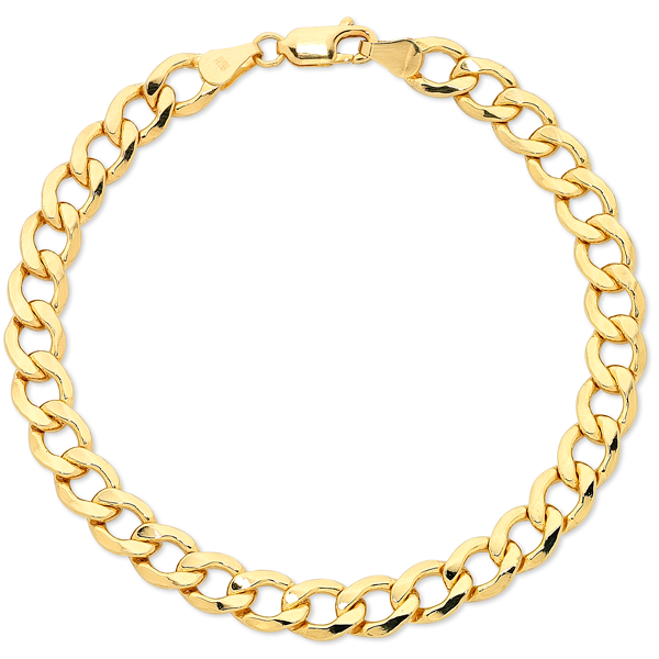 Gents Yellow Gold* Curb Bracelet