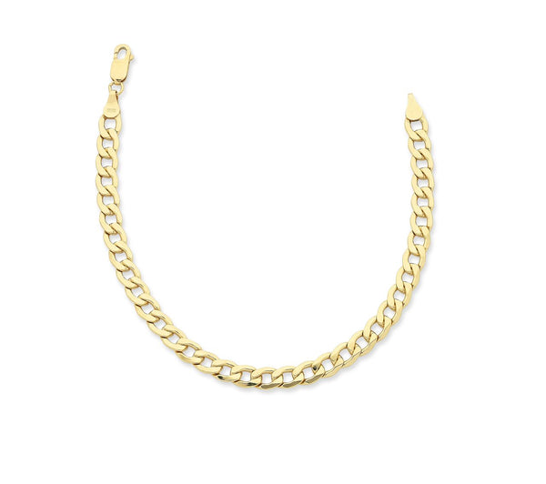 Gents Yellow Gold* Curb Chain 50cm