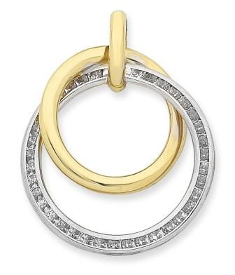 Cubic Zirconia Double Circle Pendant