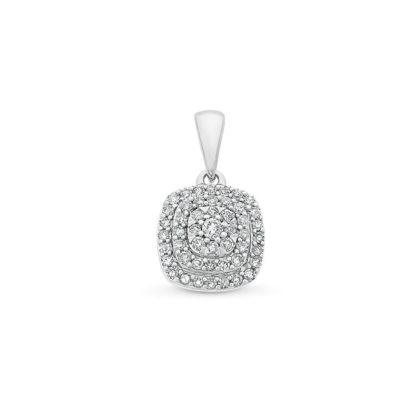Diamond Cluster Cushion Shaped Pendant