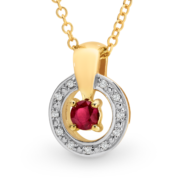 Ruby & Diamond Pendant*