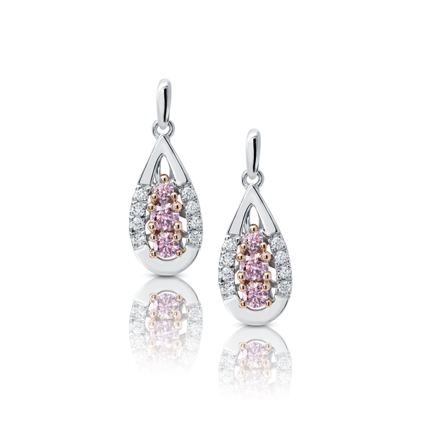 Pink Kimberley Diamond Drop Earrings