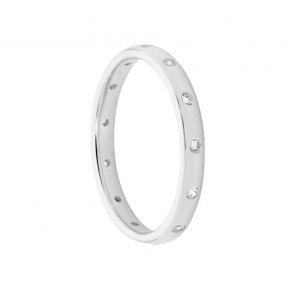 Hammer Set Eternity Ring