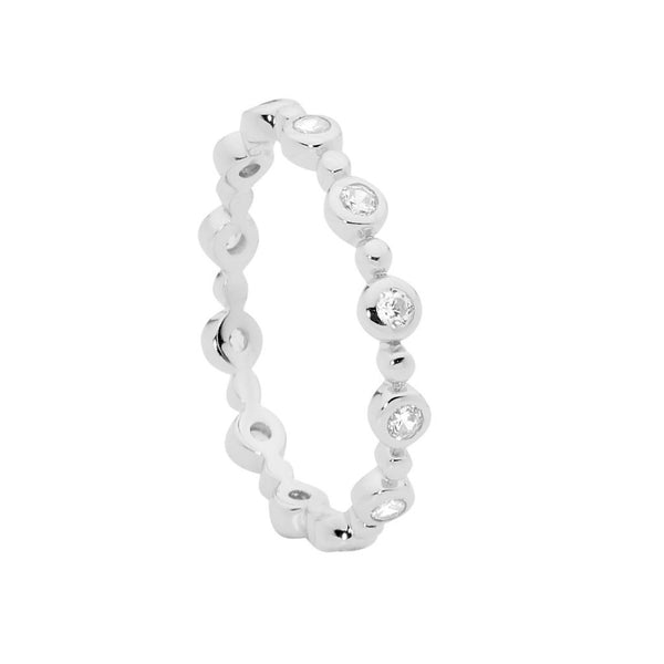 Bezel & Bubble Stacker Ring