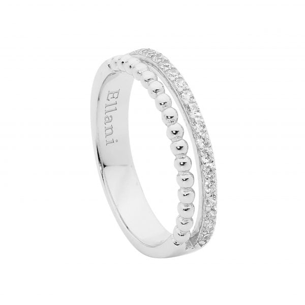 Cubic Zirconia & Bubble Split Band Ring