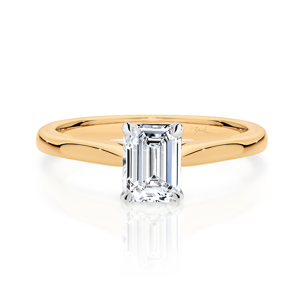 Emerald Cut Solitaire Diamond Engagement Ring