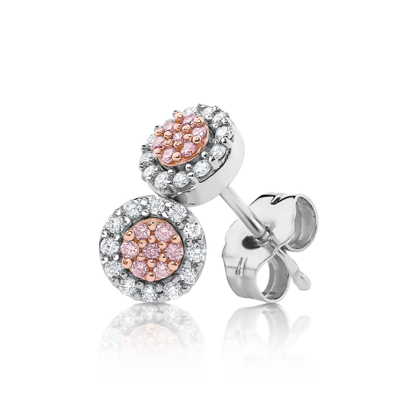 'Pink Caviar' Australian Argyle Pink Diamond Earrings
