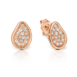 Dreamtime 9ct Rose Gold Diamond Pod Stud Earrings