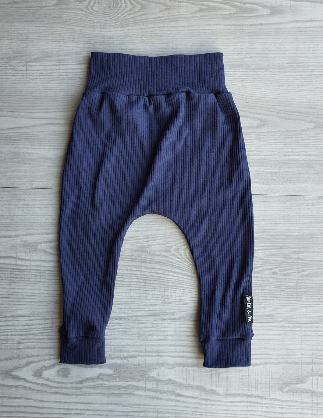 Harem Pants - Navy Rib