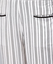 Black and white striped trouser with Pockets
