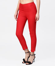 Aasi - House of Nayo Red Straight ankle length Palazzo