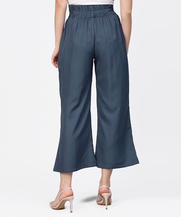 Aasi - House of Nayo Grey ankle length straight trouser