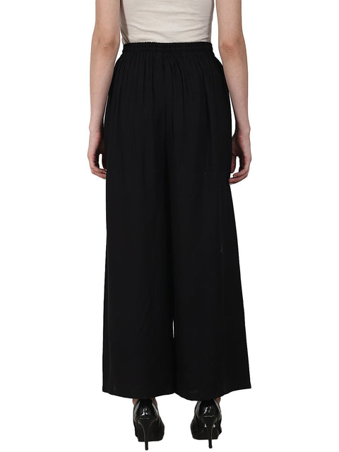 Black ankle length  Rayonstraight plazzo
