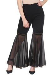 Nayo Black ankle length georgette sharara