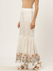 Women Off-white Falred Sharara