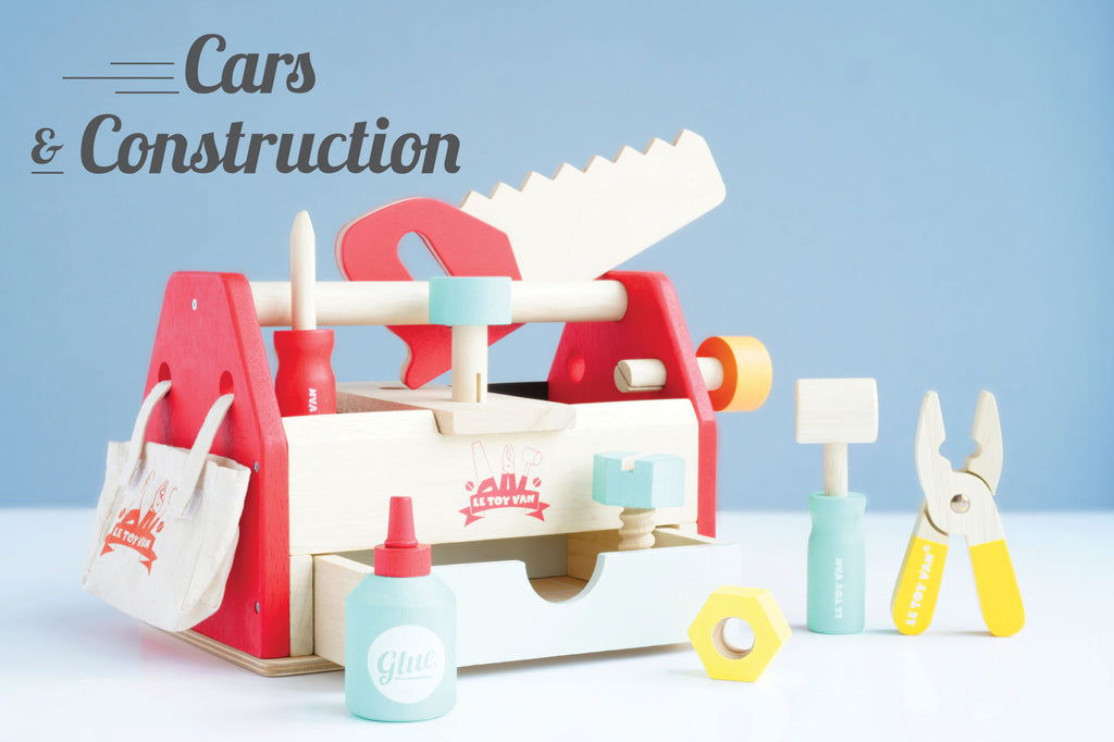 Our award winning wooden vehicle and construction toy collection