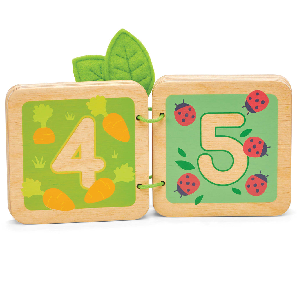 toddler wooden counting woodland book 4 and 5